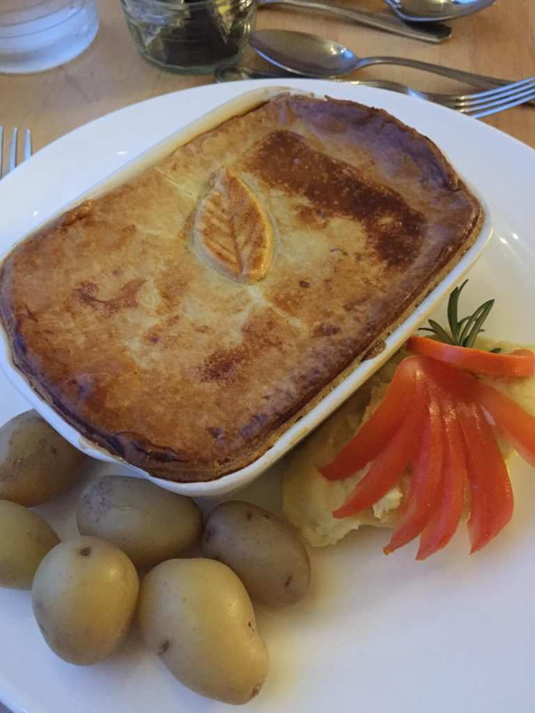 A home-made pie, the perfect fare for a running holiday!