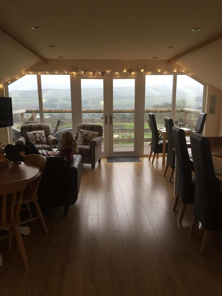 Wood floors and floor-to-ceiling windows in this beautiful restaurant along Hadrian's Wall