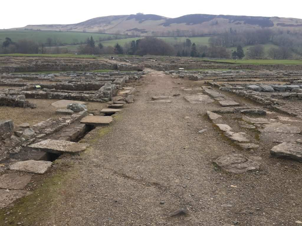 A Roman fort on our trail running holiday