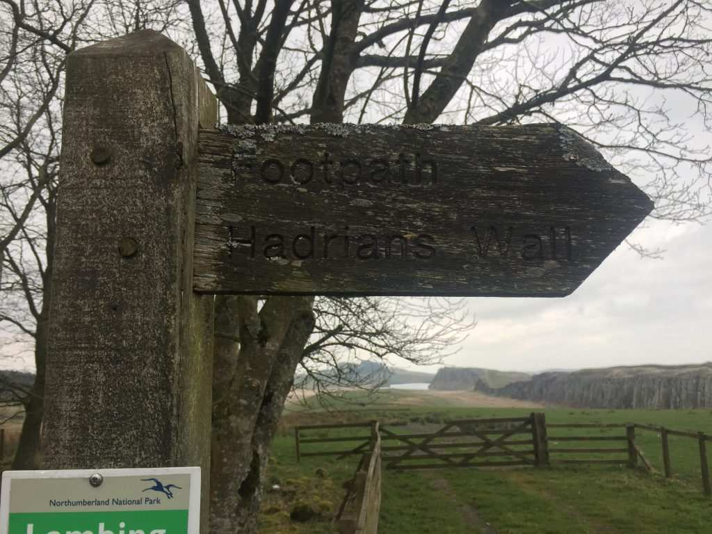 A Hadrian's Wall Path sign