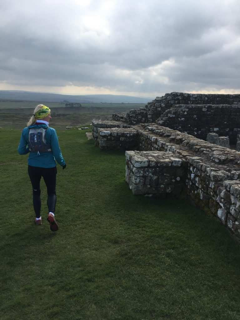 Running alongside the remains of Hadrian's Wall