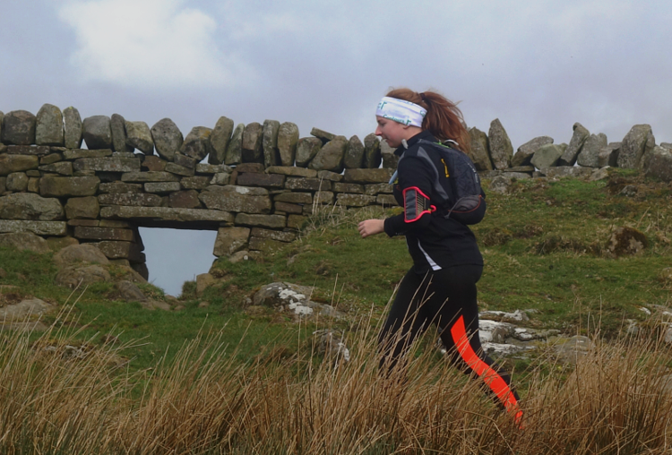 Trail running along Hadrians Wall